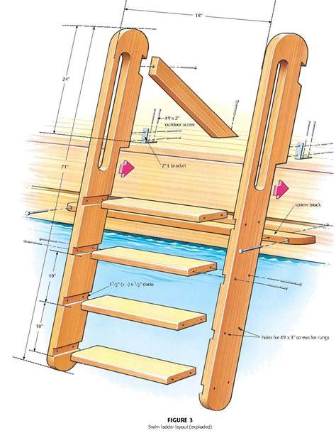wood swimming ladder plans