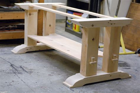 Trestle Table Base Diy  Home Design  Things To Consider