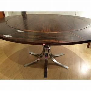 Table Ronde Extensible Design : originale table ronde extensible dyrlund flip flap en palissandre 1960 design market ~ Teatrodelosmanantiales.com Idées de Décoration