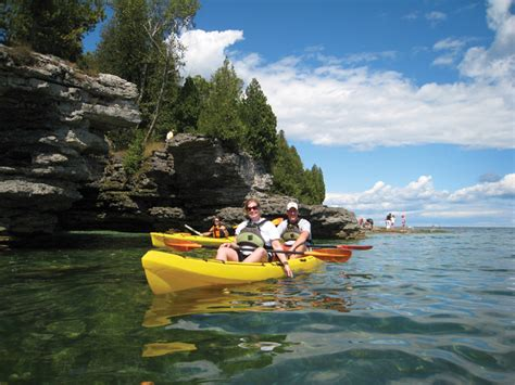 door county kayaking door county family part one 171 bridgeport resort
