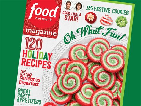 food network magazine december  recipe index food