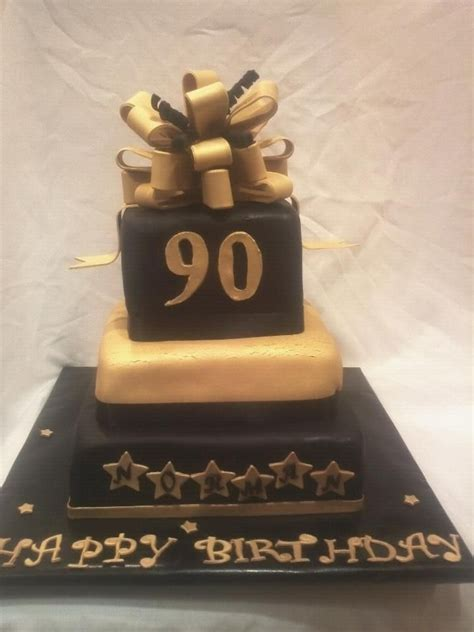 black  gold  birthday cake food drink
