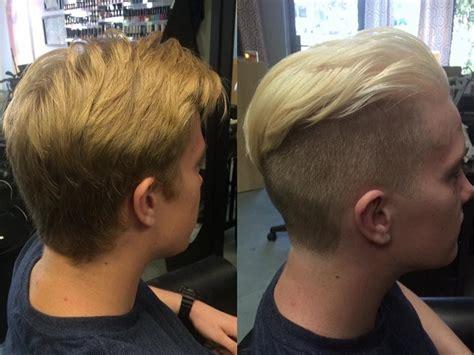platinum blonde mens undercut  cheyenne daniels  redding ca  modern muse salon platinum