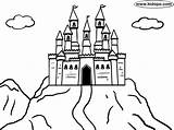 Castle Coloring Mountain Pages Castles Bouncy Drawing Easy Printable Kidopo Getdrawings Mountains Huge Knight Discover sketch template