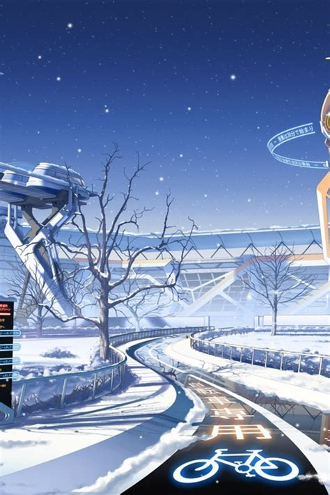 winter snow scenic mirai millenium culture japan wallpaper