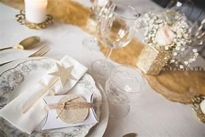Deco Noel Blanc : decoration table noel blanc et or ~ Teatrodelosmanantiales.com Idées de Décoration