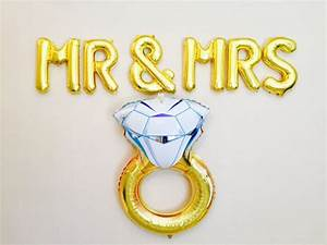 32 best bridal showers bride to be images on pinterest With mr and mrs letter balloons