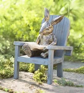 Reading, Rabbit, Garden, Statue