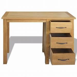 Schreibtisch Mit Schubladen : vidaxl schreibtisch mit 3 schubladen eiche 106x40x75 cm g nstig kaufen ~ Frokenaadalensverden.com Haus und Dekorationen