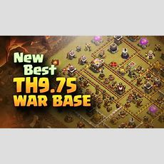 New Best Th975 Anti 3 Star War Base #5  275 Walls  Clash Of Clans  2017 Youtube