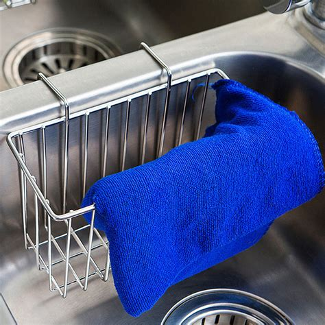 kitchen sink holder kitchen sink organizer stainless steel holder caddy brush 2741