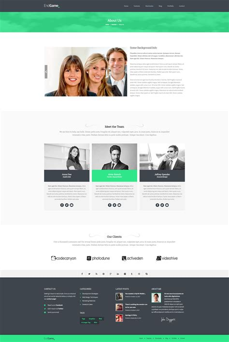 EndGame - Responsive, Retina Ready HTML Template by ...