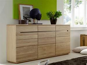 IDEAL Mbel Orca Sideboard Eiche Bianco Front Lamelle