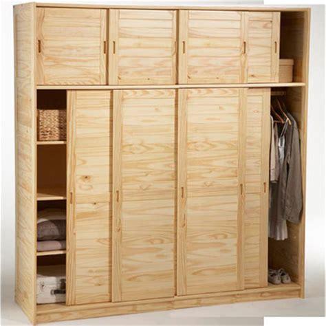 armoire 4 portes avec surmeuble m 233 lissa naturel