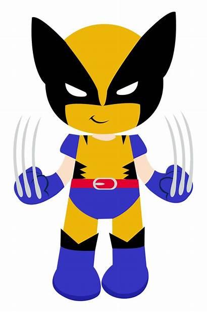 Superheroes Clipart Wolverine Batman Robin Superman Flash