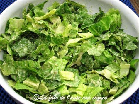 cuisiner la salade verte la fille de l 39 anse aux coques salade verte avec sauce à l