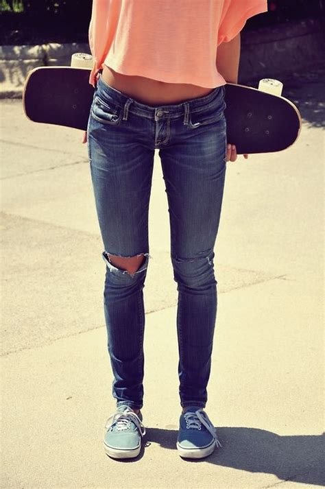 Skateboard vans skinny jeans peach shirt | My Style | Pinterest | Summer Style and Skinny jeans