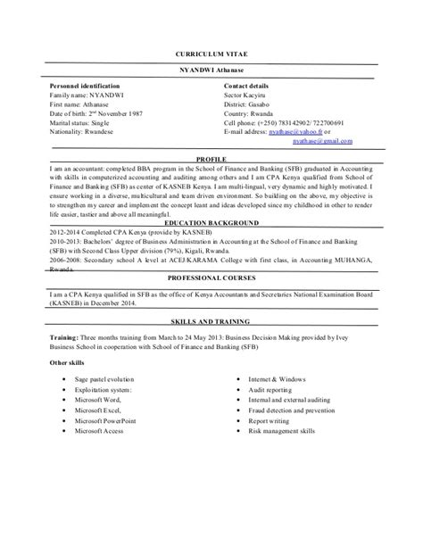 Curriculum Vitae Professionnel by Curriculum Vitae With Professional Reference
