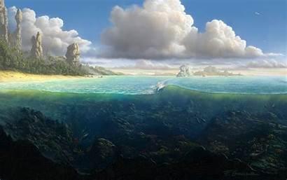 Exotic Ocean Nature Wallpapers Desktop Digital Landscape