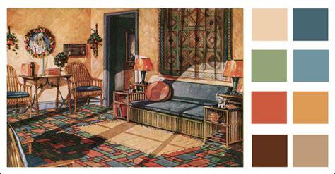 sun room  warm color scheme  armstrong linoleum spanish eclectic colors