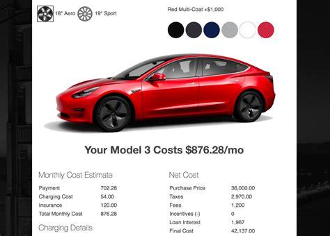 tesla model   cost month suggests survey data