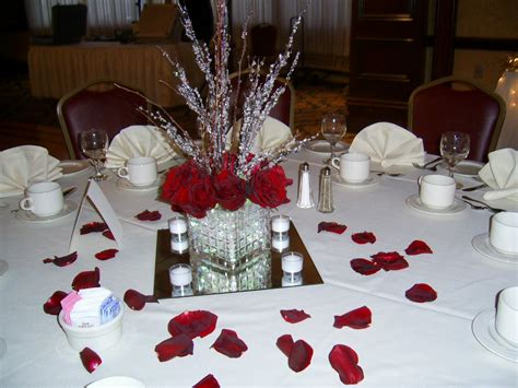 Wedding Ideas By Filomena Red Roses Twigs And Crystals