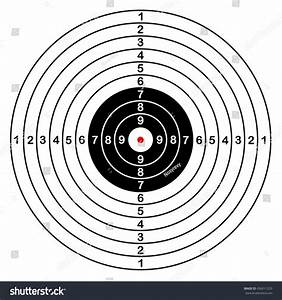 Blank Template Sport Target Shooting Competition Stock
