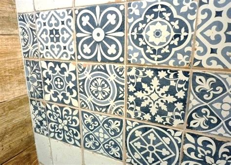 moroccan tile and and black pattern tile