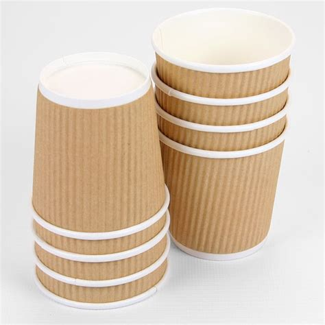 decorative neon signs small 4oz brown ripple paper cups pipii