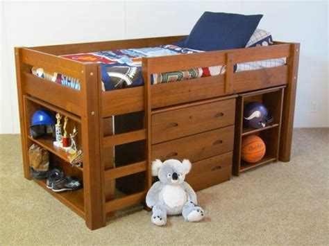 Low Loft Bed With Desk by Low Loft Bunk Bed With Desk Bookcase And Drawers