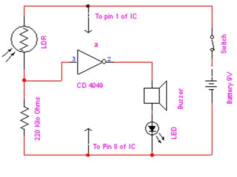 electronic eye electronics project  circuit