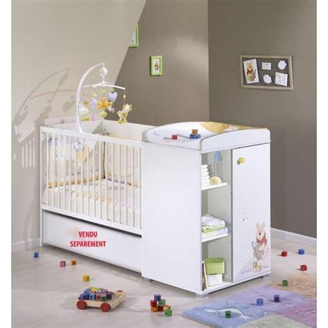 chambre evolutive pour bebe winnie l 39 ourson lit bébé transformable 120 x 60 blanc