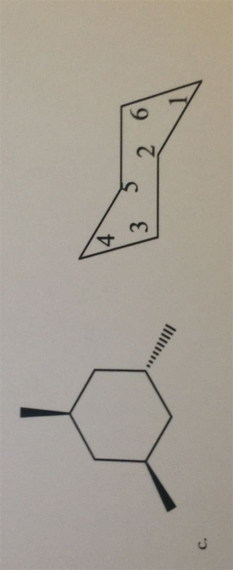 drawing chair flip conformation draw the chair conformation and show the ring flip