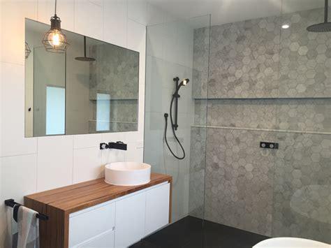 custom timber bathroom vanity top  retrograde furniture