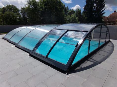 abri piscine sans rail abri piscine bas motoris 233 roma abri vo 251 t 233 coulissant et