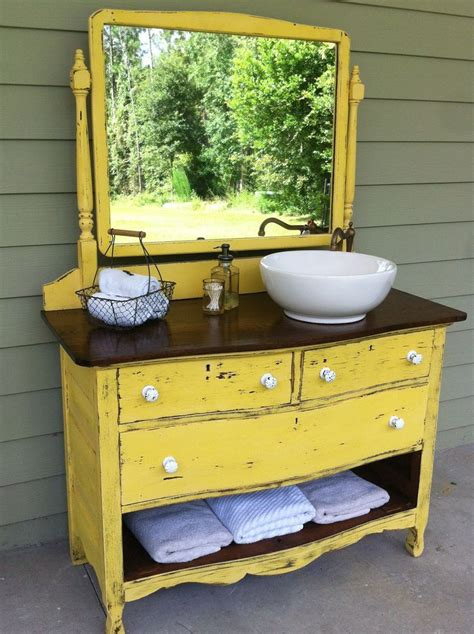 Excellent How To Turn A Dresser Into Bathroom Vanity 15