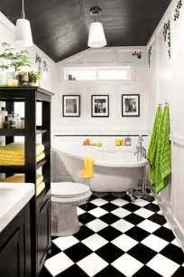 small bathroom ideas black and white 35 vintage black and white bathroom tile ideas and pictures