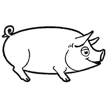 draw pigs clipart