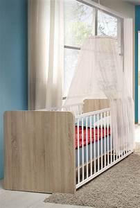 Babybett Sonoma Eiche : babybett gitterbett inkl lattenrost sonoma eiche wei 78cm neu betten kinder ~ Indierocktalk.com Haus und Dekorationen