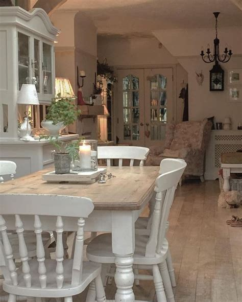 shabby chic dining room ideas  images home magez