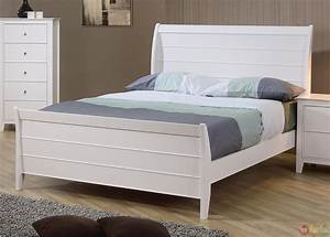 Selena White Twin Sleigh Bed Youth Bedroom Set