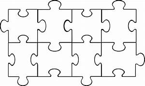 using puzzle pieces inspired by digital With name puzzle template