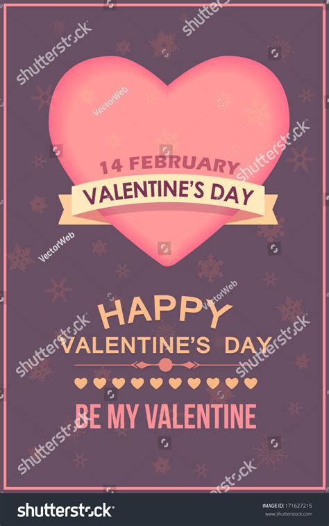 valentines day poster template cards background stock