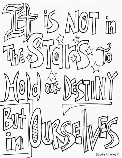 Doodle Alley Coloring Pages Quote Adult Motivational