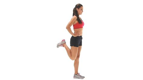 Standing Dumbbell Curl by Hamstring Exercise Standing Hamstring Curl Single Leg