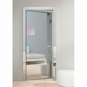 miroir a accrocher sur porte maison design bahbecom With porte de douche coulissante avec spot miroir salle de bain