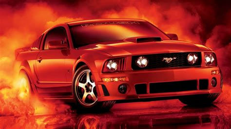 fonds decran red ford mustang voiture  hd image