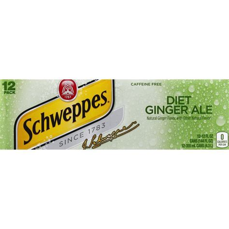 It changes from location to location and brew to brew. Schweppes Ginger Ale, Diet, Caffeine Free, 12 Pack (12 ...