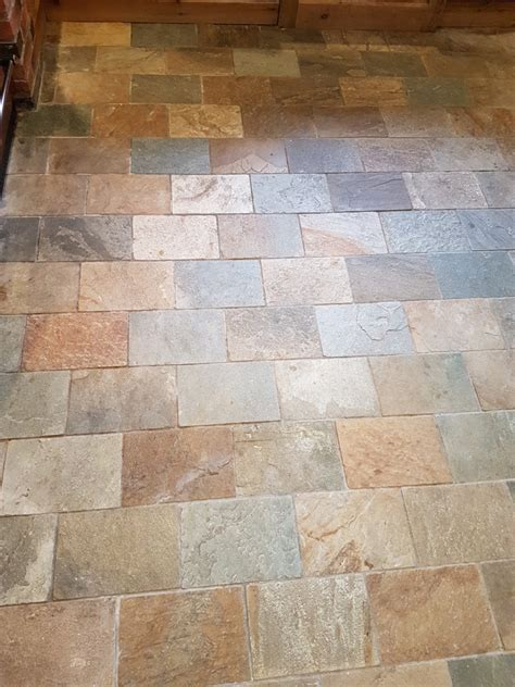 Refreshing Dull Slate Kitchen Floor Tiles In Ticknall