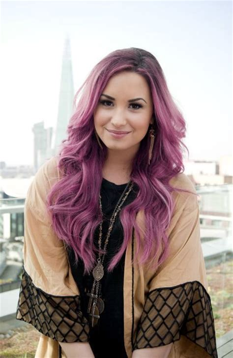 Demi Lovato Pink Hair Pictures Photos And Images For